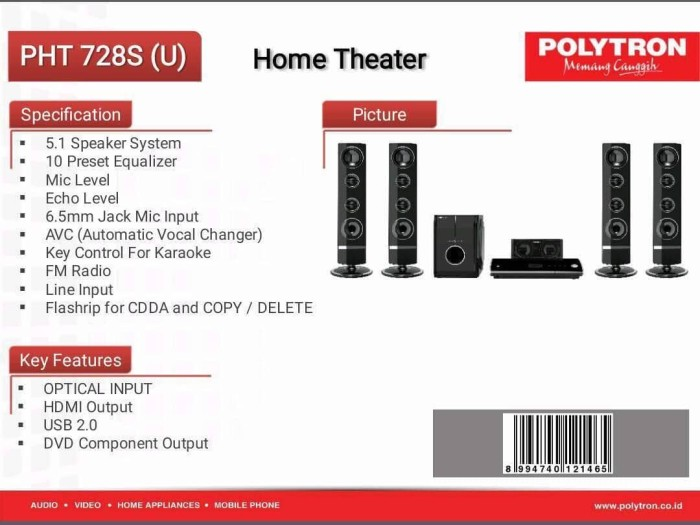 harga Polytron Pht 720s Home Theater [5.1 Ch] Tokopedia.com