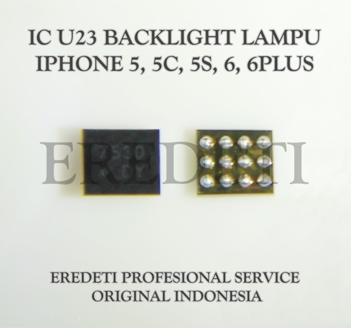 harga Ic u23 backlight lampu 5. 5c. 5s. 6. 6plus kd-001058 Tokopedia.com