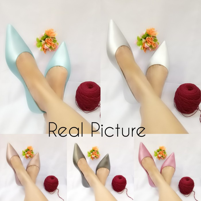 harga Sepatu Flat Shoes Lancip Glossy Jelly Shoes Impor Bara Bara 80223mtl5 Tokopedia.com