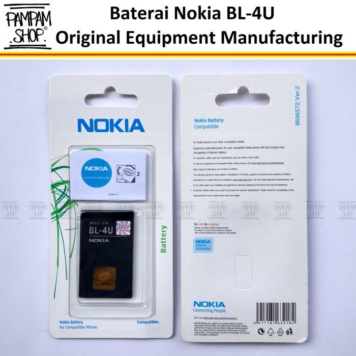 harga Baterai nokia asha 210 300 305 306 308 309 310 501 bl4u bl-4u original Tokopedia.com