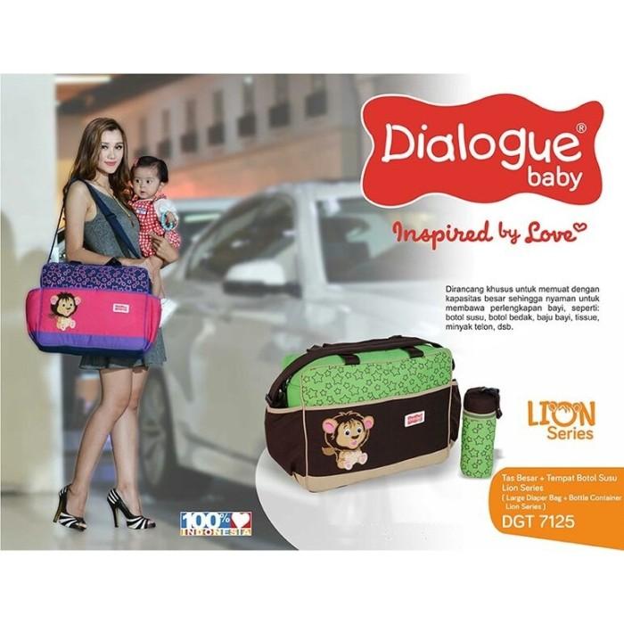 harga Dialogue baby large diaper bag+tempat botol susu lion series [dgt7125] Tokopedia.com