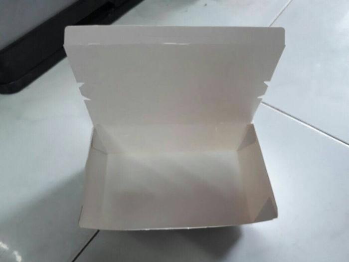 Jual Paper Bento Box Kemasan Wadah Ompreng Kertas Bekal Makanan