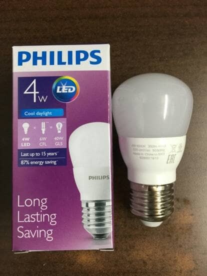 Philips Led Bulb 4w P45 Putih 4 Buah Update Daftar Harga Terbaru Source · Lampu led philips 4w 4watt