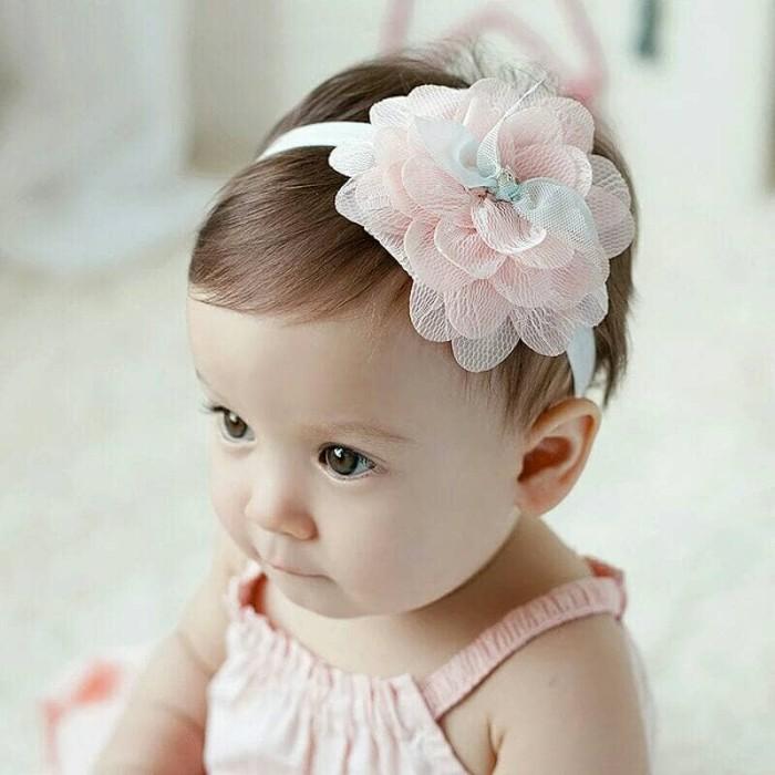 Headband hair ikatan rambut bayi anak perempuan bunga besar