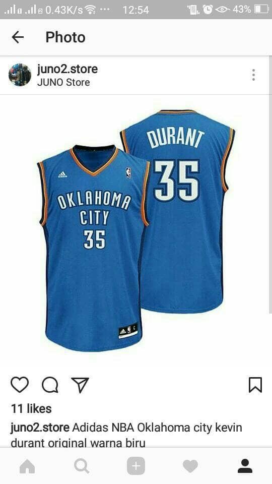 the latest bdadd d0bb3 Jual Oklahoma city Kevin Durant replica Jersey Original - Kota Bogor - MR  Sport | Tokopedia