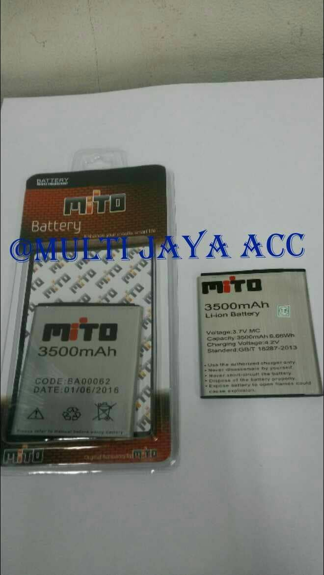 Baterai mito a65 fantasy card ba-00062 double power ori/battery/batre