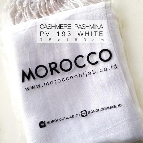 harga Jilbab putih rawis pashmina cashmere murah grosir hijab kerudung Tokopedia.com