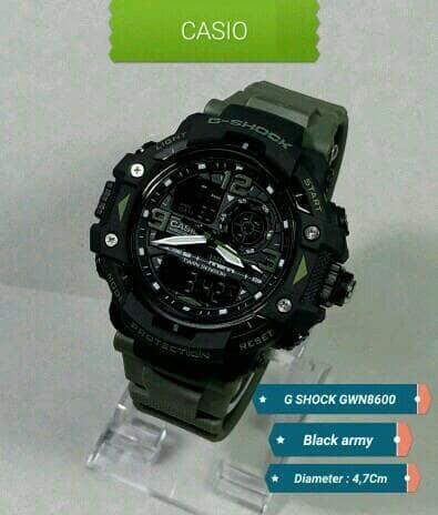 harga Jam tangan sport pria casio g-shock gwn8600 black army Tokopedia.com