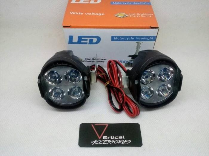 harga Lampu led sorot 4 mata luxeon 1 mode tidak kedip 9-85v 10watt Tokopedia.com