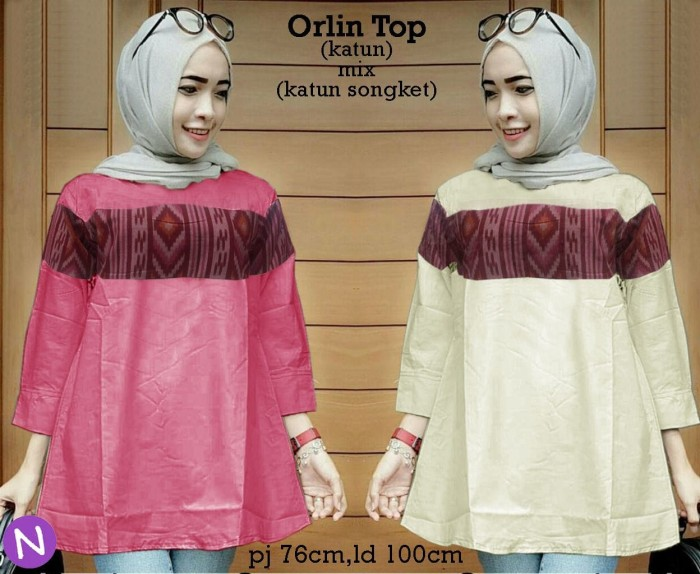 harga 53353 Orlin Top/baju Tunik Murah/atasan Muslim Wanita Murah Tokopedia.com