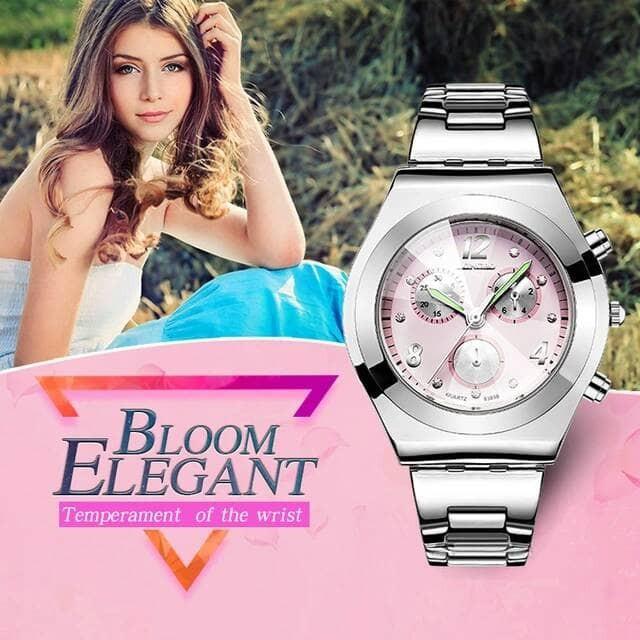 Jam Tangan Wanita Original Import ( Guess / Gc / Skmei / Casio ) - Merah Muda