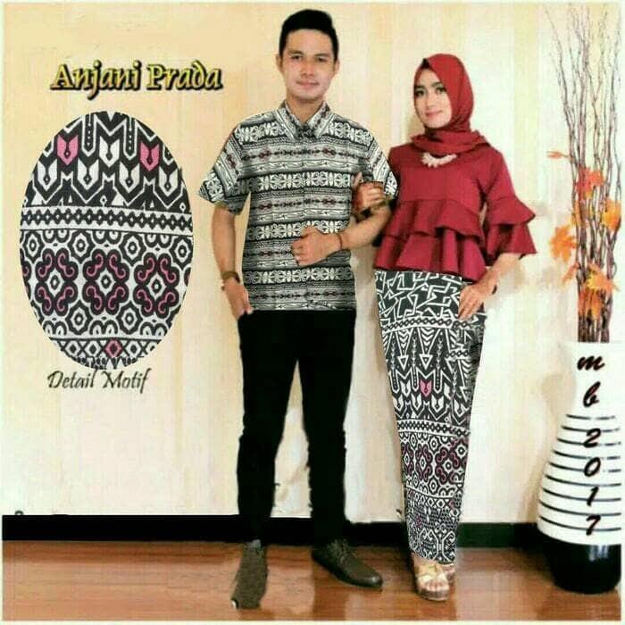 Jual Batik Couple Sarimbit Seragam Pesta Hijab Baju Kebaya Muslim Modern Dki Jakarta Amalia Collection29 Tokopedia
