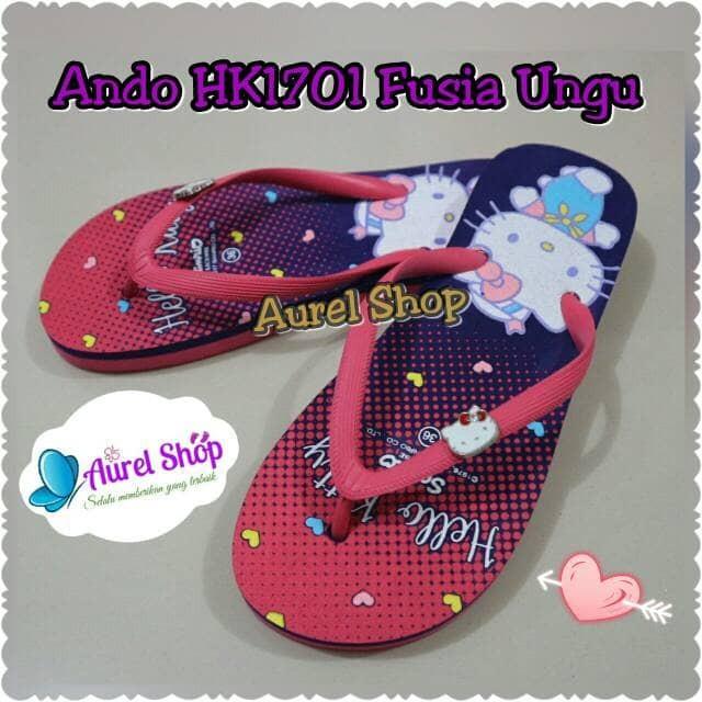 harga Sandal jepit ando hello kitty hk1701 fusia ungu Tokopedia.com