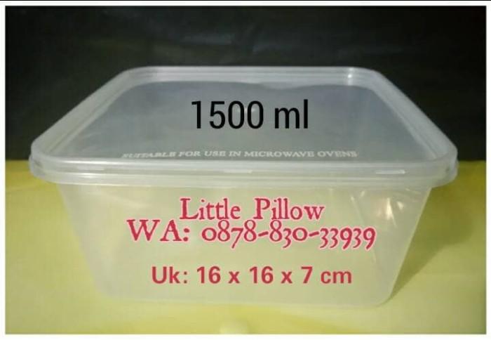 Foto Produk Kotak Plastik Bening 1500ml/ Lunch Box/Kotak Makan/Food Container dari Little Pillower