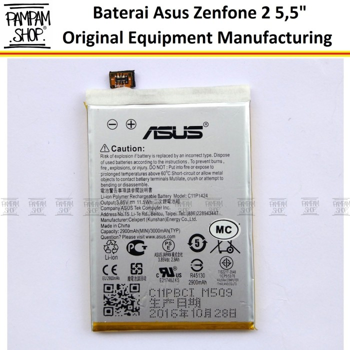 harga Baterai handphone asus zenfone 2 laser 55  inch ze551ml original inci Tokopedia.com
