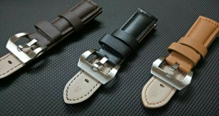 harga Tali jam tangan kulit pria/strap jam tangan kulit bucle putih Tokopedia.com