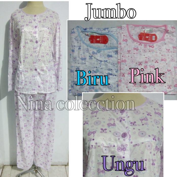 harga Piyama baju tidur lengan panjang wanita dewasa jumbo Tokopedia.com