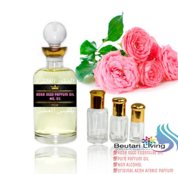 harga 6ml rose attar parfume oil (parfum minyak mawar bvlgaria) import arab Tokopedia.com