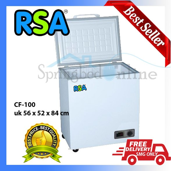 harga Rsa Cf-100 Chest Frezeer Lemari Pendingin Freezer Box 100 Liter Tokopedia.com