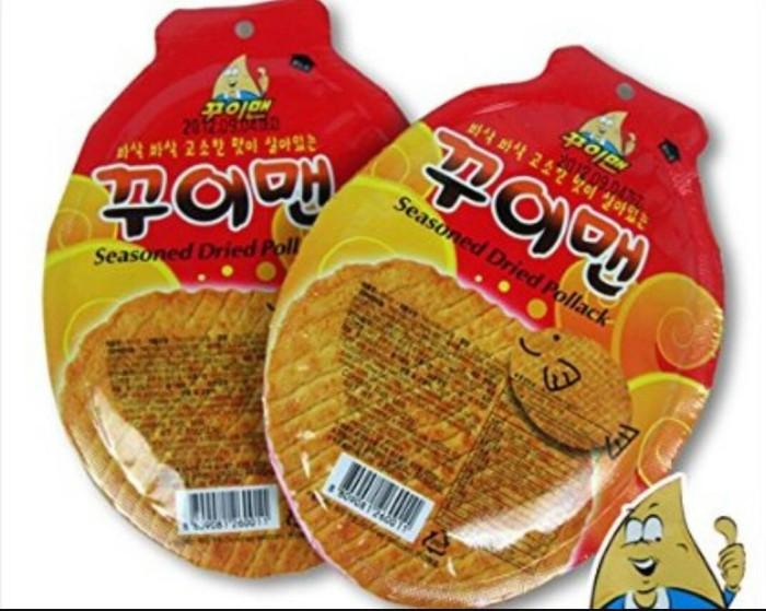 Korean seasoned dried fish snack korea juhi snek ikan