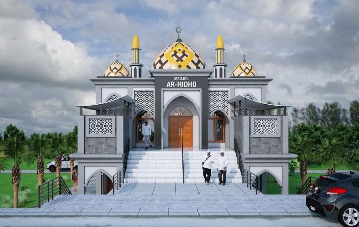 Jual Desain Gambar Masjid Kab Kutai Kartanegara Sanggar
