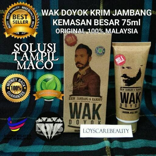 Wak Doyok Cream Penumbuh Jambang Herbal - 75ml Original 100%