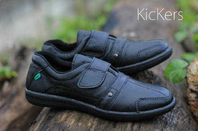 ... harga Sepatu casual kulit asli slip on pria kickers black hitam formal  kerja Tokopedia.com 4090c6e881