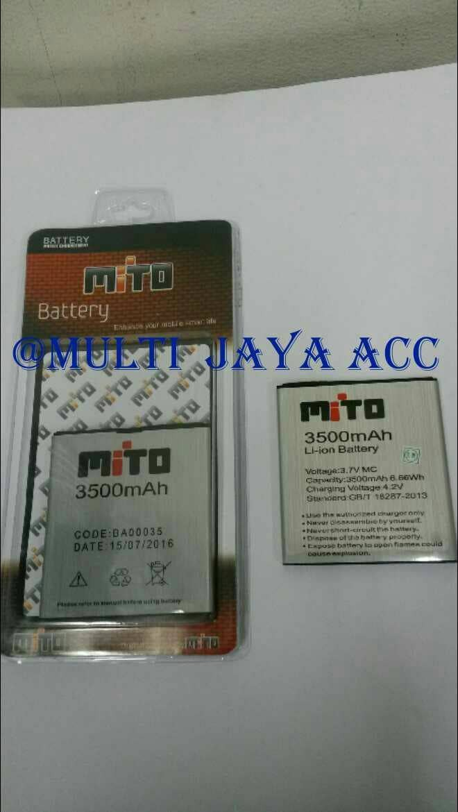 harga Baterai mito a800 ba-00035 double power ori/battery/batre Tokopedia.com