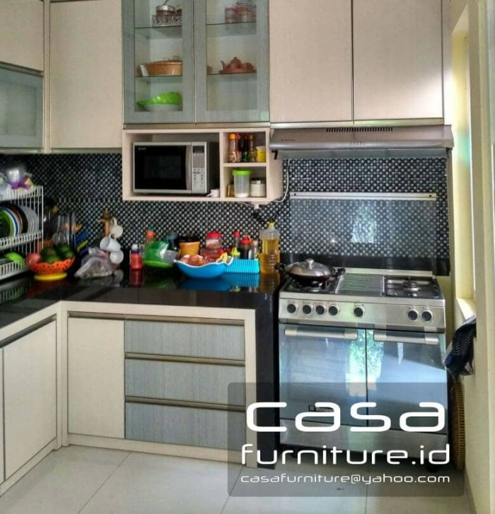 Jual Kitchen Set Minimalis , Lemari Dapur Custom Hpl