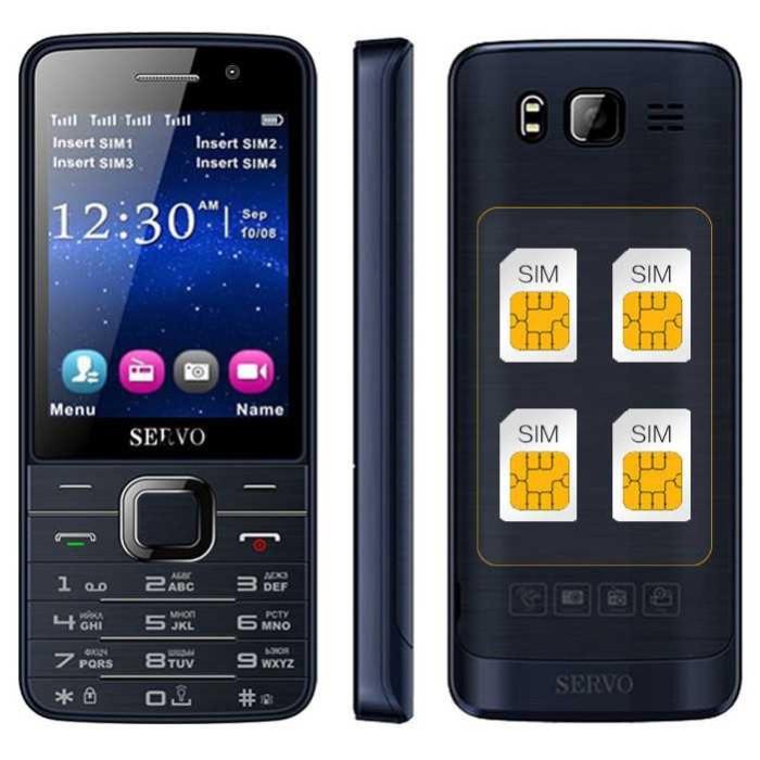 harga Servo v9500 handphone 4 sim card hp unik murah Tokopedia.com