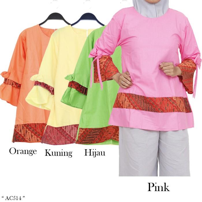 harga Baju atasan blus motif batik wanita bahan katun Tokopedia.com