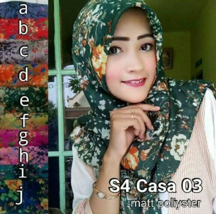 Segiempat casa / jilbab umama/hijab square/kerudung motif/jilbab bunga