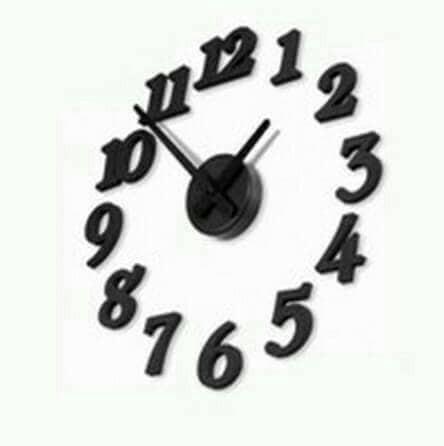 harga 3d diy wall clock - jam dinding unik - jam unik Tokopedia.com