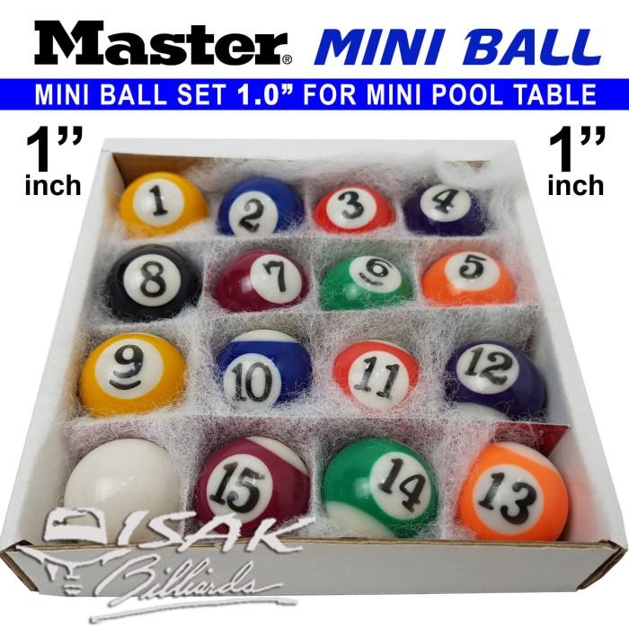harga Master mini pool ball set - 1.0  bola meja billiard biliar mainan game Tokopedia.com