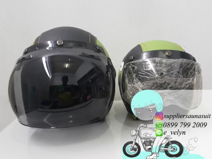 Helm Bogo Karakter Keropi Couple / Green / Retro 2