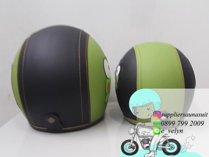 Helm Bogo Karakter Keropi Couple / Green / Retro 3