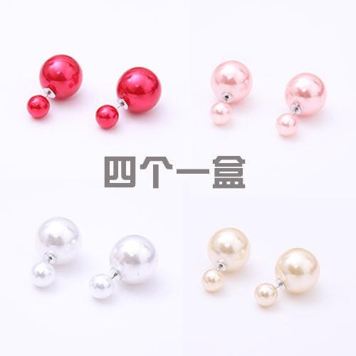 (1 box = 4 pasang) anting dior/ anting tusuk modist/ ball earrings