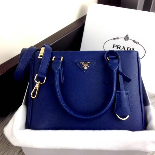 Jual Tas Wanita Tas PRADA Saffiano Double Zip Leather BB Bag  1714 ... 49abfd81cb