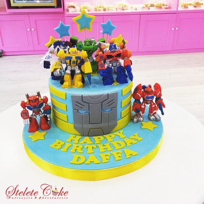 Jual Kue Ulang Tahun Transformers Birthday Cake Stelete Cake Jakarta Barat Stelete Cake Tokopedia