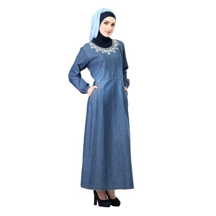 Foto Produk Baju Muslimah/Gamis Basic/Gamis Jeans Inficlo TerMurah (SOP 325) dari Pusat Gamis di Bandung