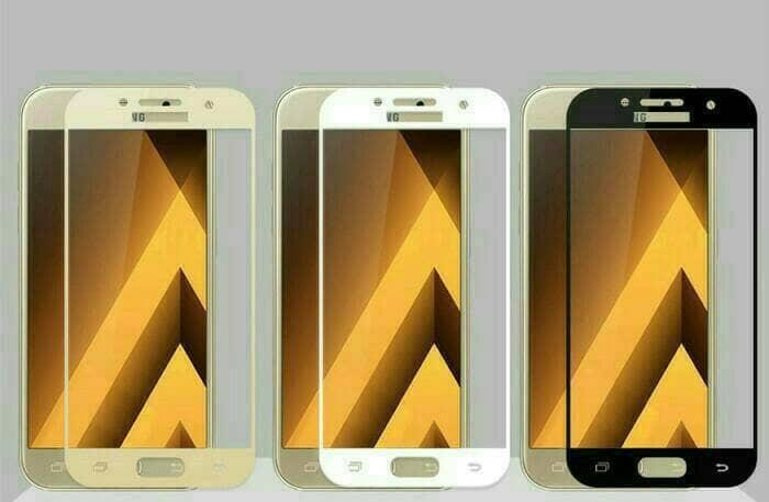 harga Samsung a5 2017 / a3 2017 / a7 2017 tempered glass warna full cover - a tujuh hitam Tokopedia.com