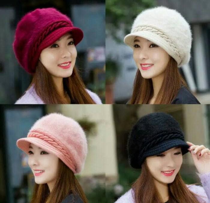 harga Topi rajut fashion korea bulu Tokopedia.com