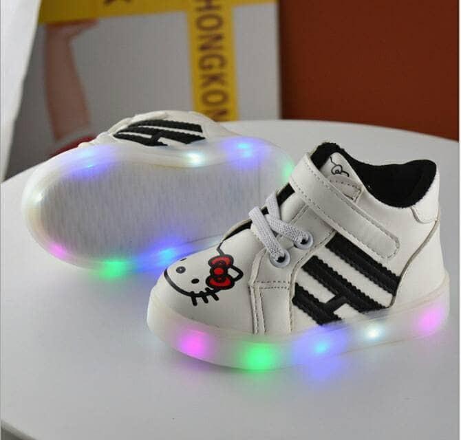 harga Sepatu led anak hello kitty putih Tokopedia.com