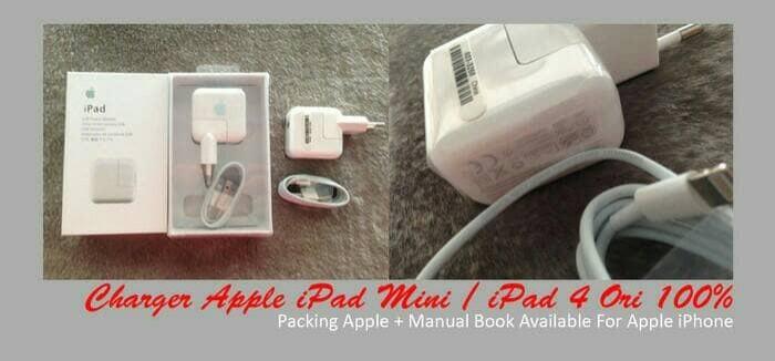harga Charger ipad fullset mini 1/2/3/ipad4/air 1/2 original bergaransi Tokopedia.com