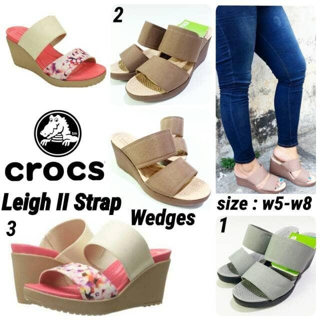 harga Sandal crocs wedges leigh ii strap murah sandal crocs terbaru Tokopedia.com