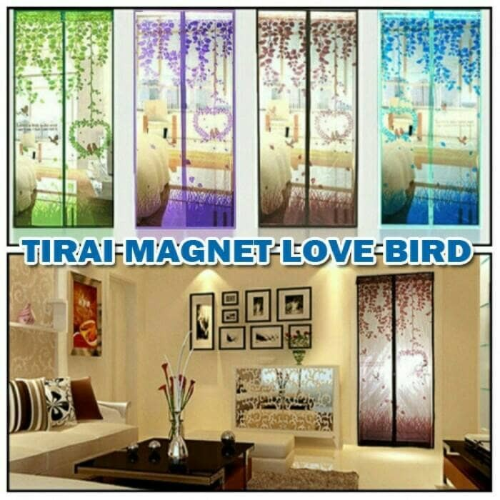 harga Tirai magnet  love bird Tokopedia.com