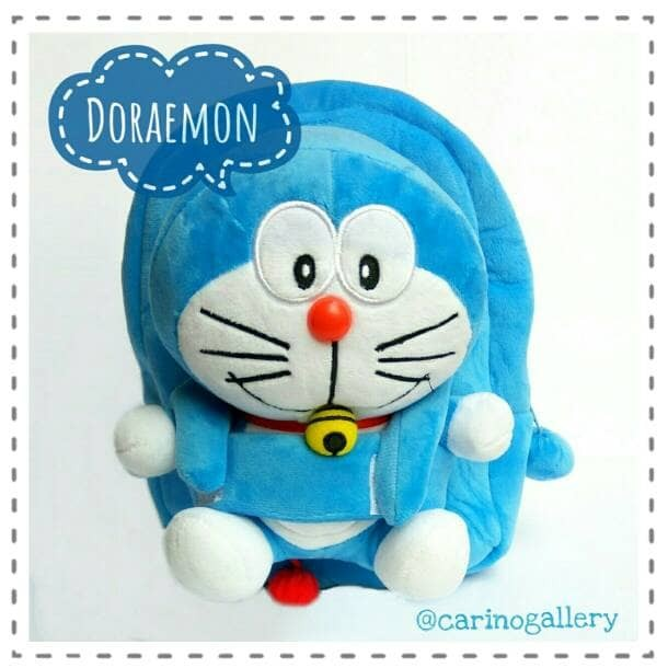 harga Tas ransel anak - import karakter boneka lepas doraemon Tokopedia.com