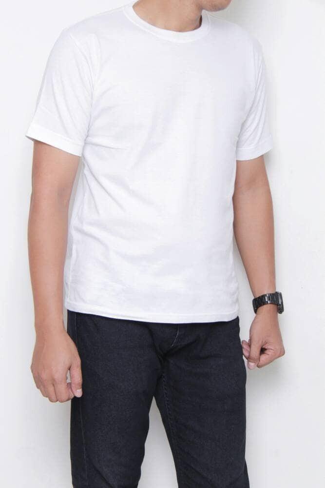 Kaos86 Kaos Polos O-Neck Lengan Pendek - Putih Size XL