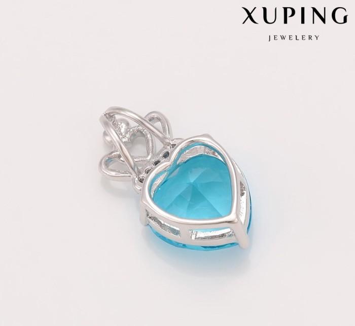 Liontin Ori Xuping Cubic Zircon Aquamarine