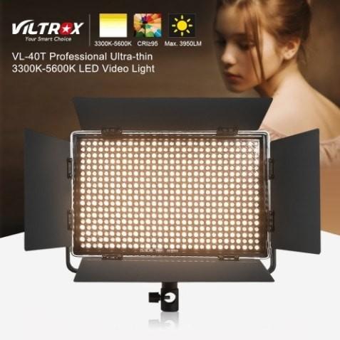 Viltrox vl-40t professional ultra-thin led video light photography